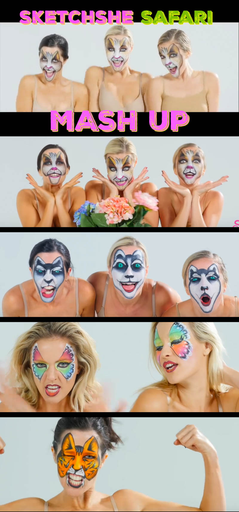 Face Body Painting SketchShe Safari Animal Mashup