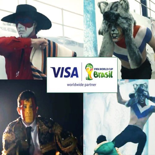Face body painting VISA World Cup Ad