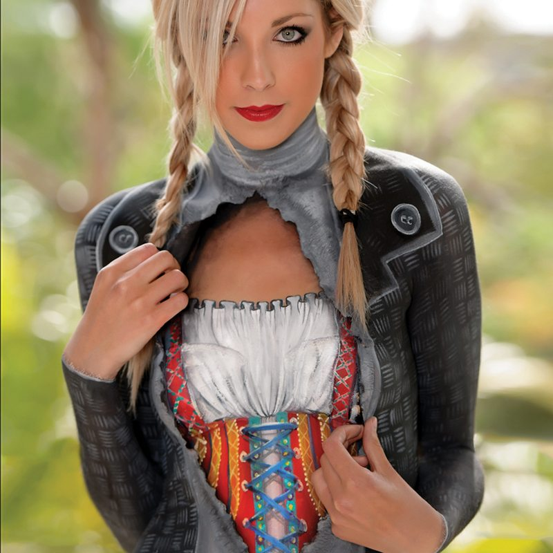 Bodypainting special fx makeup Bavarian Bier Ad