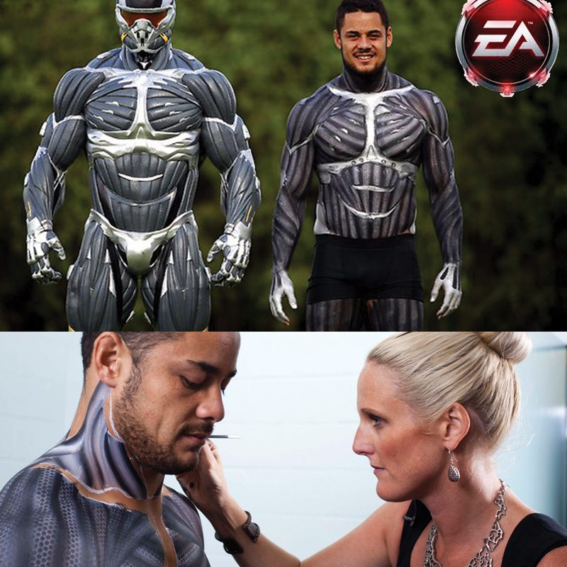 Bodypainting EA Games Jarryd Hayne