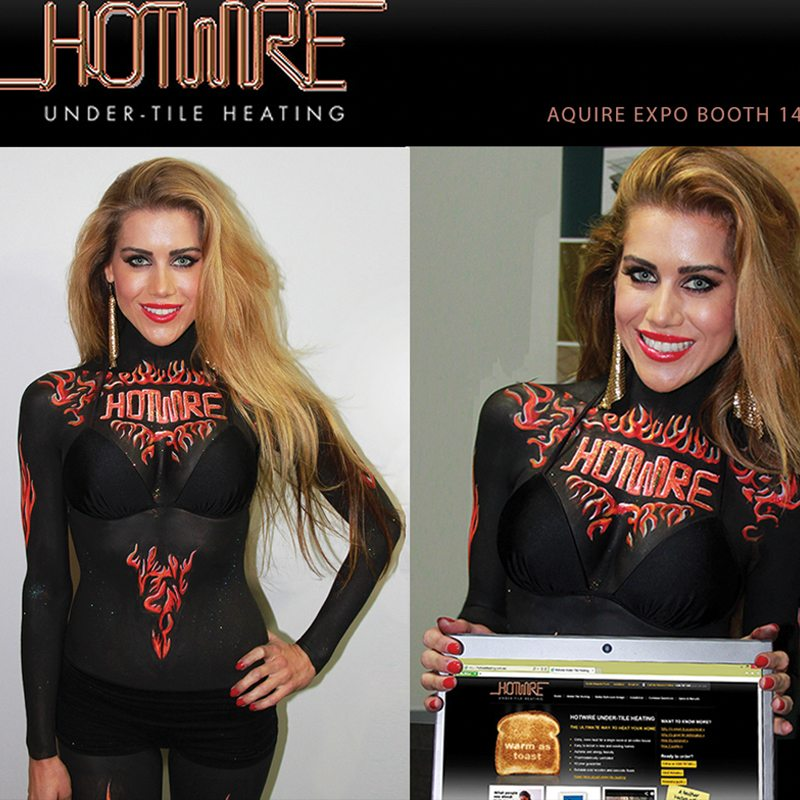 Bodypainting Hotwire Underfloor Heating Promotion