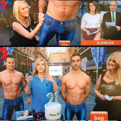 Bodypainting Jeans 4 Genes Day