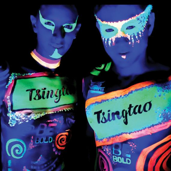 Bodypainting Tsing Tao Beer Influencers Promotion