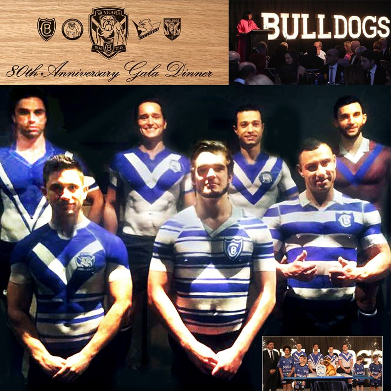 Bodypainting Canterbury Bulldogs 80th Anniversary