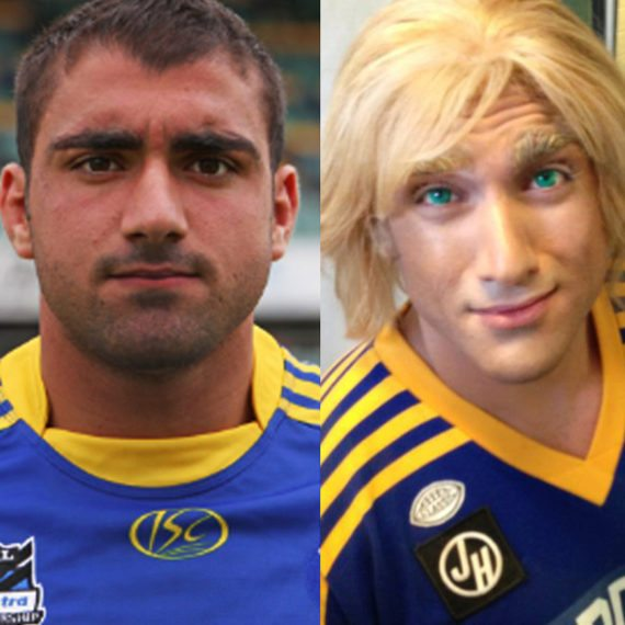 Bodypainting Tip-Top Footy Loaves Tim Mannah