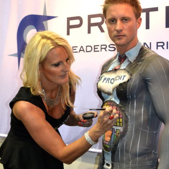 Bodypainting Protecht Trade ShowDisplay