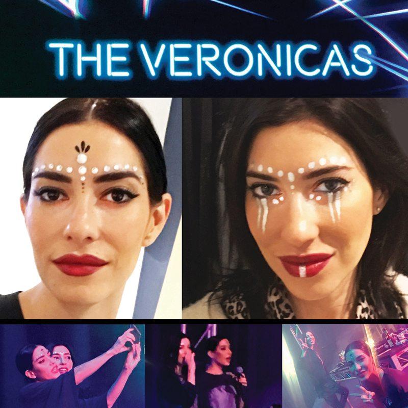 Makeup body painting Veronicas concert