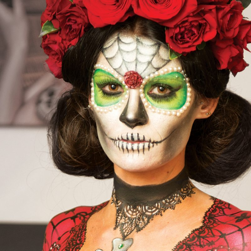 Bodypainting Maunsell Wickes Dia de los muertos