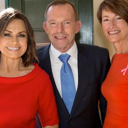 Body painting Tony Abbott Lisa Wilkinson