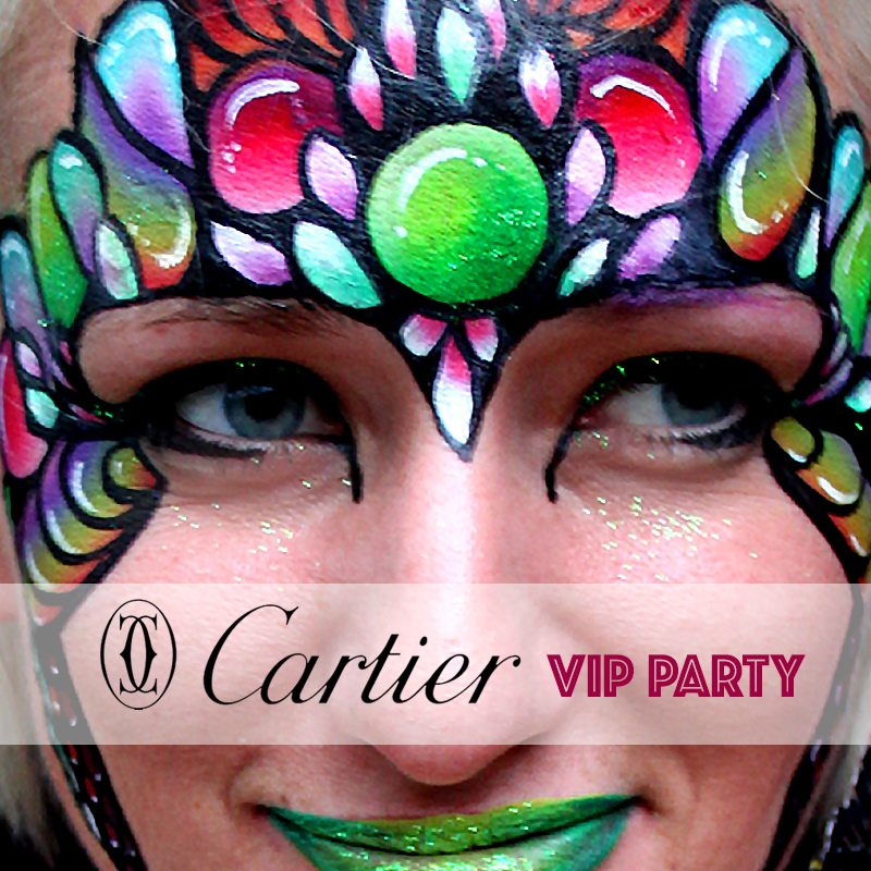 Face painting Cartier VIP Christmas Party