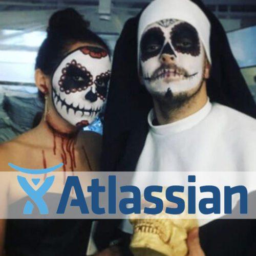 Special FX makeup Atlassian Christmas Party