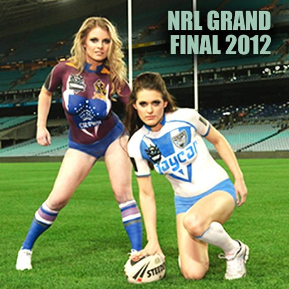 Bodypainting NRL Grand Final