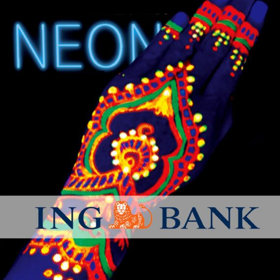 UV neon body painting ING Bank Staff Event