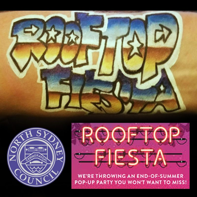 Bodypainting North Sydney Rooftop Fiesta