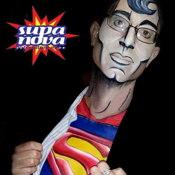 Bodypainting Supanova Pop Art Superman