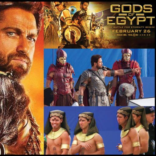Spray tanning makeup design Gods of Egypt