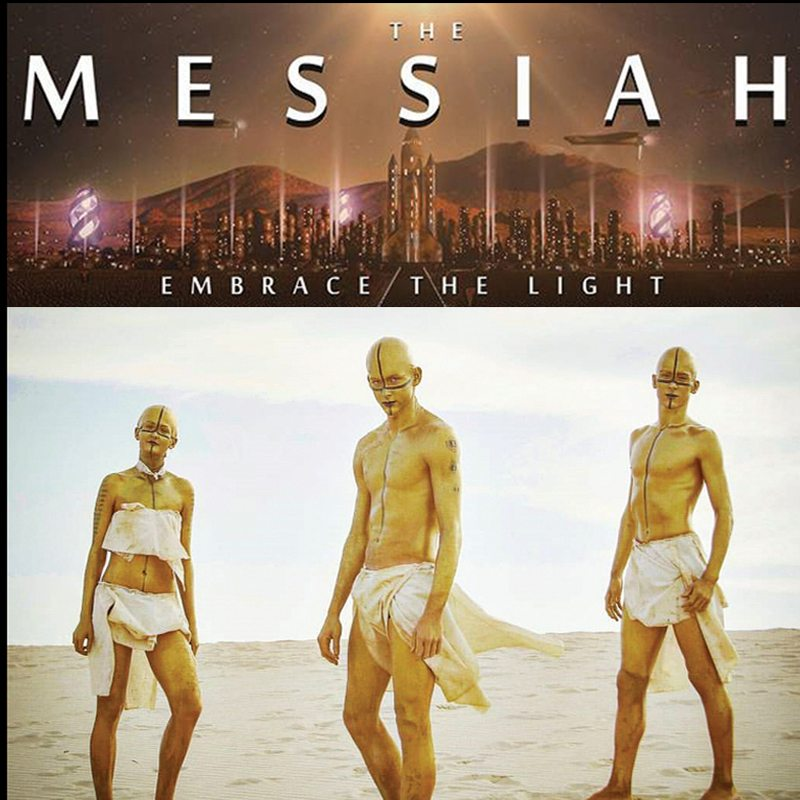 Bodypainting special FX makeup The Messiah
