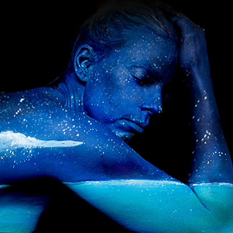 Bodypainting art Blue Moon