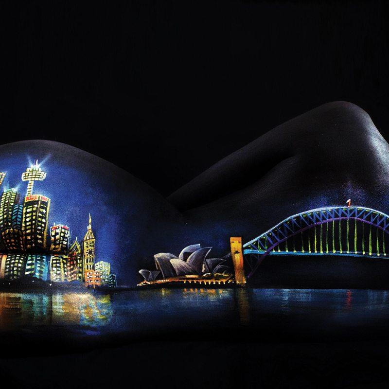 Bodypainting art Cityscape