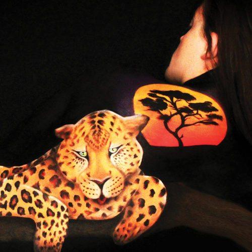 Bodypainting art Leopard