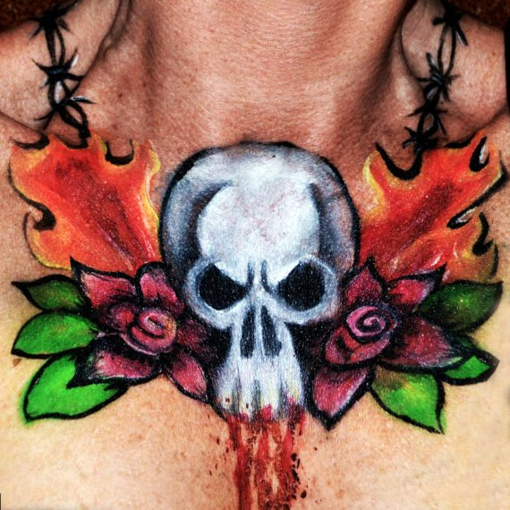 Body painting Halloween Decolletage 2