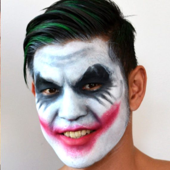 Face painting Halloween Beginners Joker Dark Knight