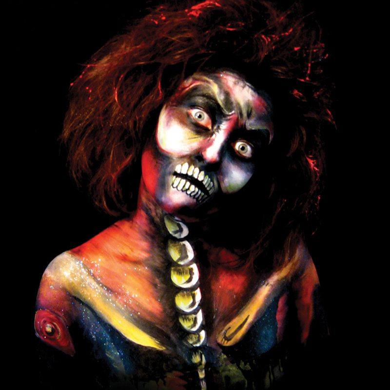 Bodypainting Halloween Corpse