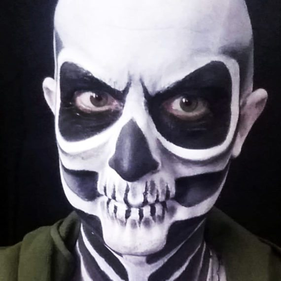 Face painting Halloween Skeleton 2