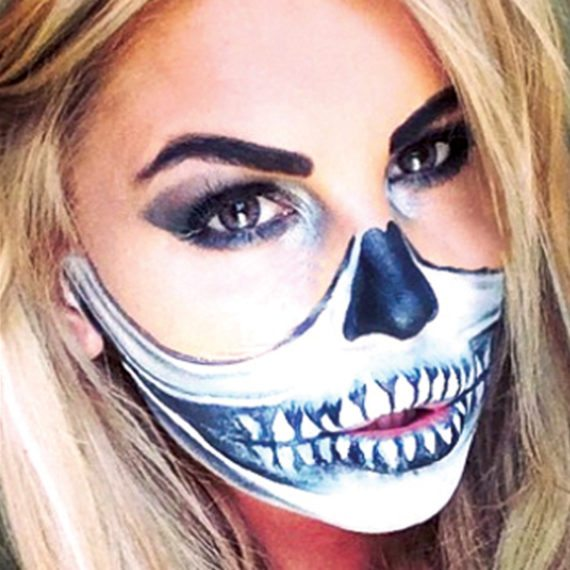 Bodypainting Halloween Skeleton 5