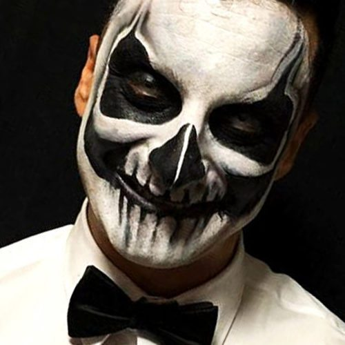 Bodypainting Halloween Skeleton 6