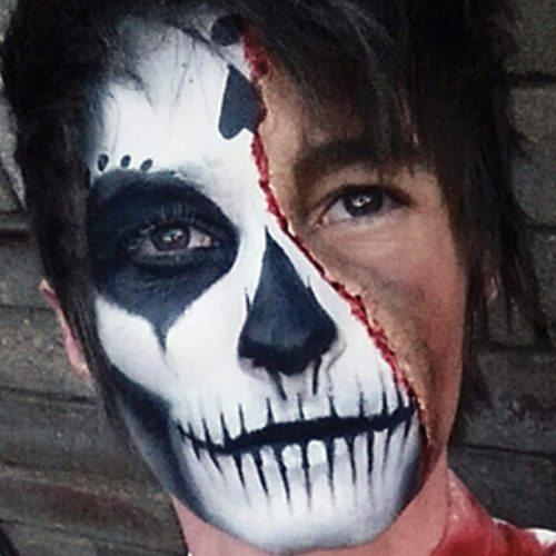 Bodypainting Halloween Skeleton 7
