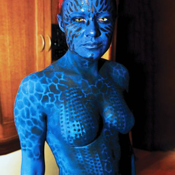 Bodypainting Halloween Mystique