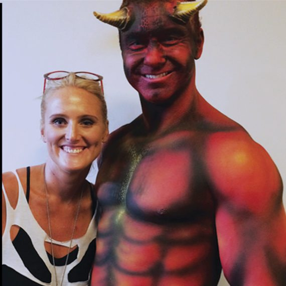 Bodypainting special FX Devil