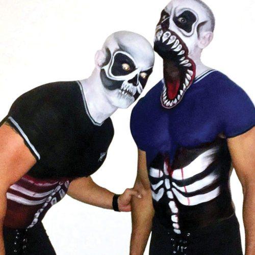 Face Bodypainting Halloween Venom football zombie
