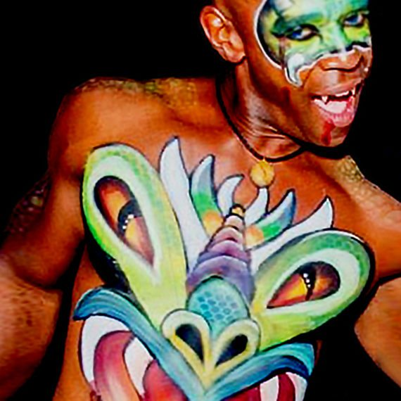 Face body painting Halloween Vibrant Monster