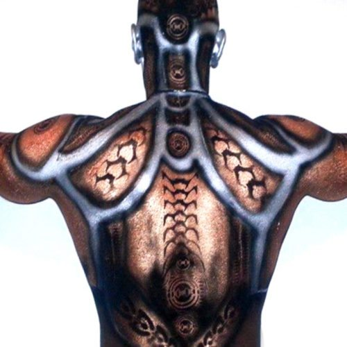 Face body painting Halloween Robot