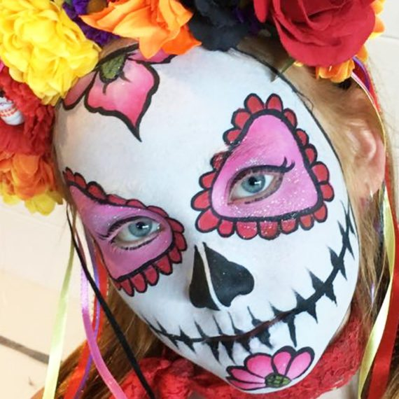 Bodypainting Halloween Day of the dead 1