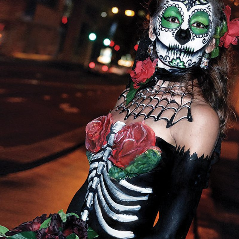 Bodypainting Halloween Day of the dead 2