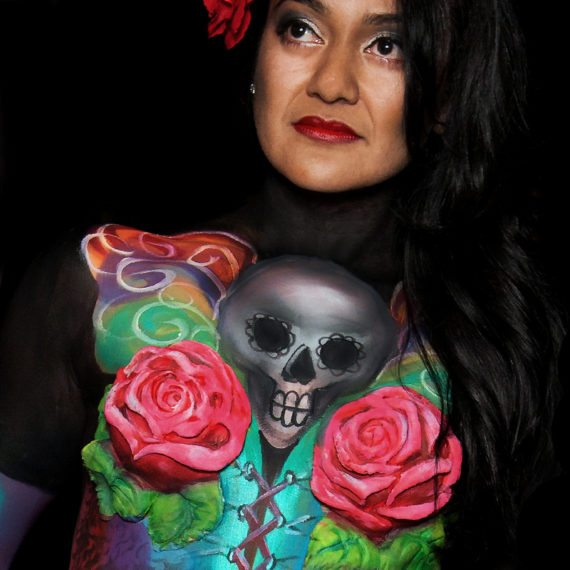 Bodypainting Halloween Day of the dead 3