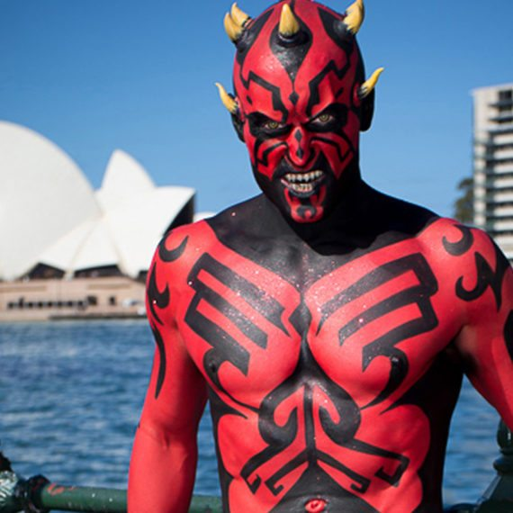 Bodypainting special FX prosthetics Halloween Darth Maul