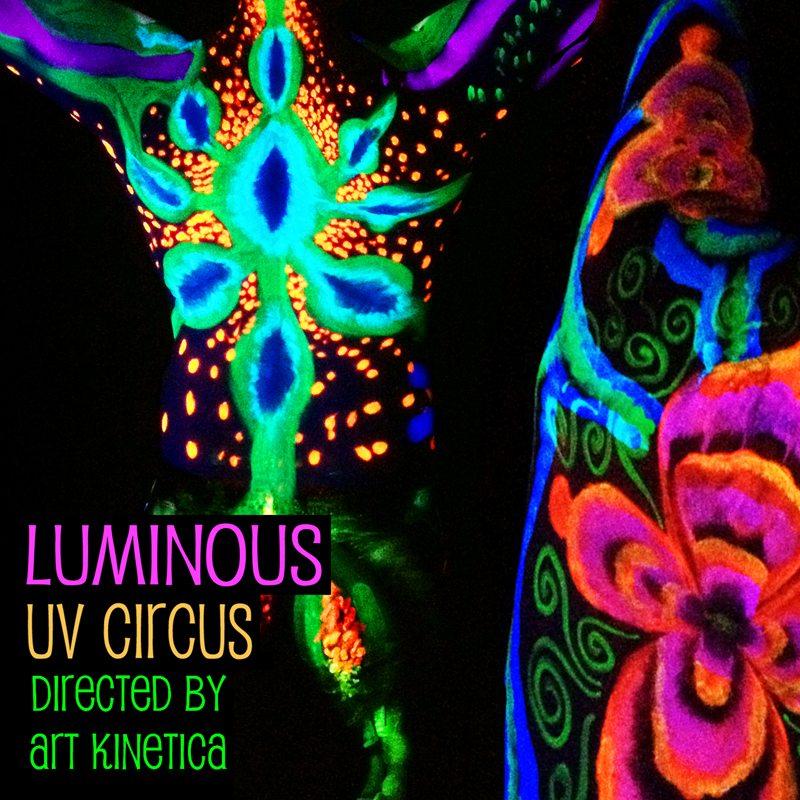 UV neon bodypainting Luminous UV Circus