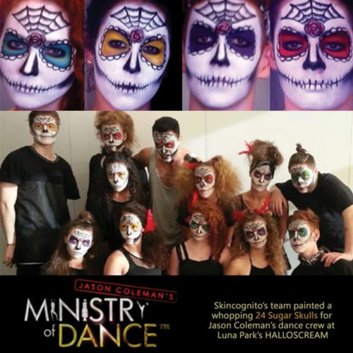 Face painting Jason Coleman Ministry Dance