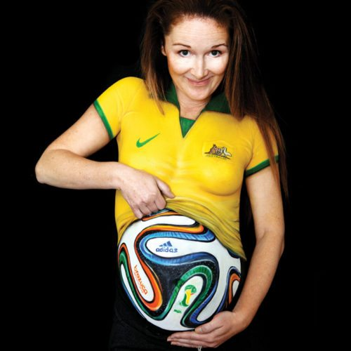 Belly chest painting World cup Braza Ball