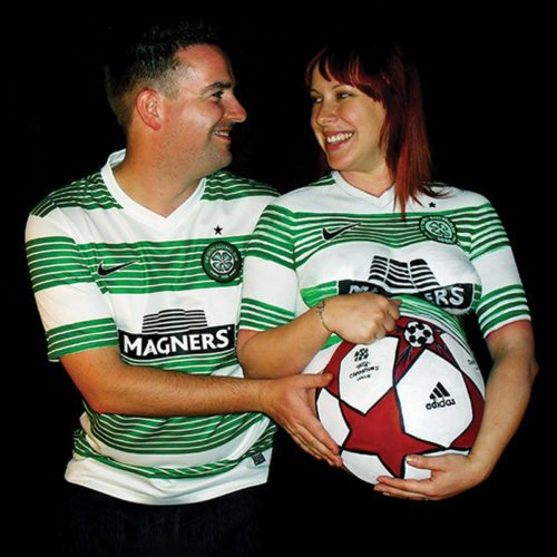 Belly chest painting Celtic FC