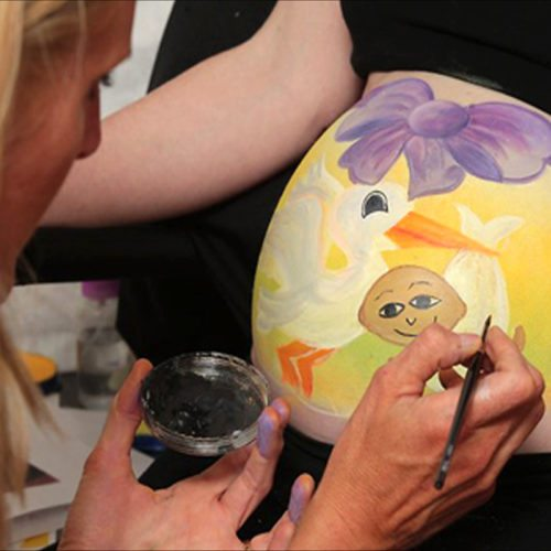 Belly chest painting Jo