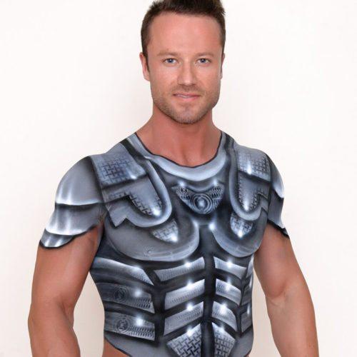Body painting armour 1