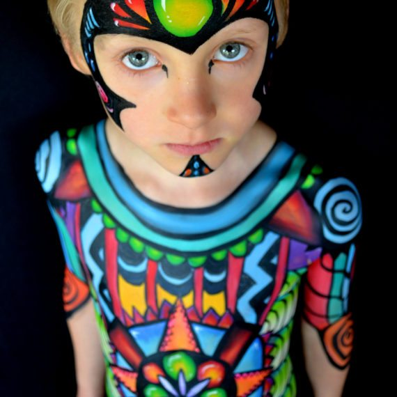 Body painting aztec