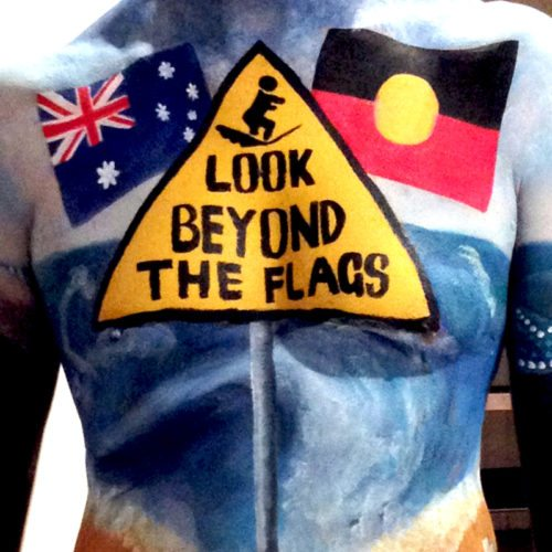 Body painting indigenous surf movement