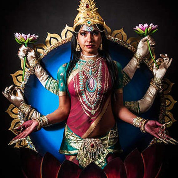 Body painting Lakshmi