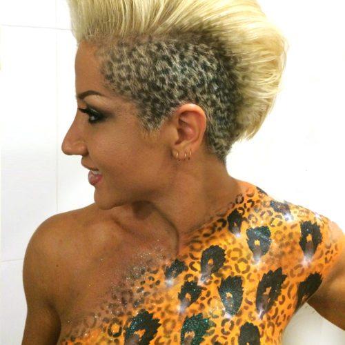 Hair body painting airbrush paint